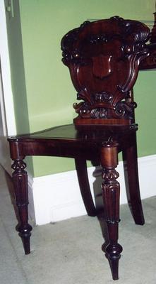 chair, hall