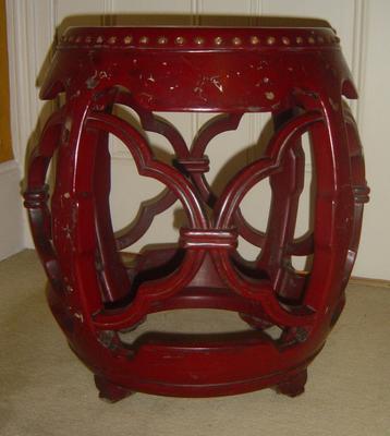 stool, drum