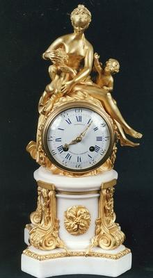 clock, mantel