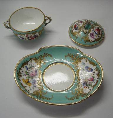 dish and covered bowl; A0466