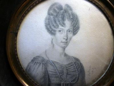 portrait miniature, pair