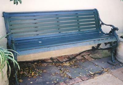 seat, garden