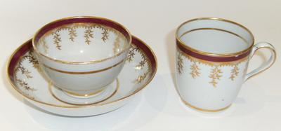 cup, bowl, and saucer